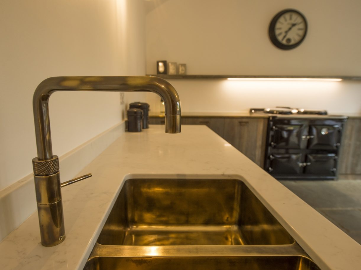 Made to order finish sink tap