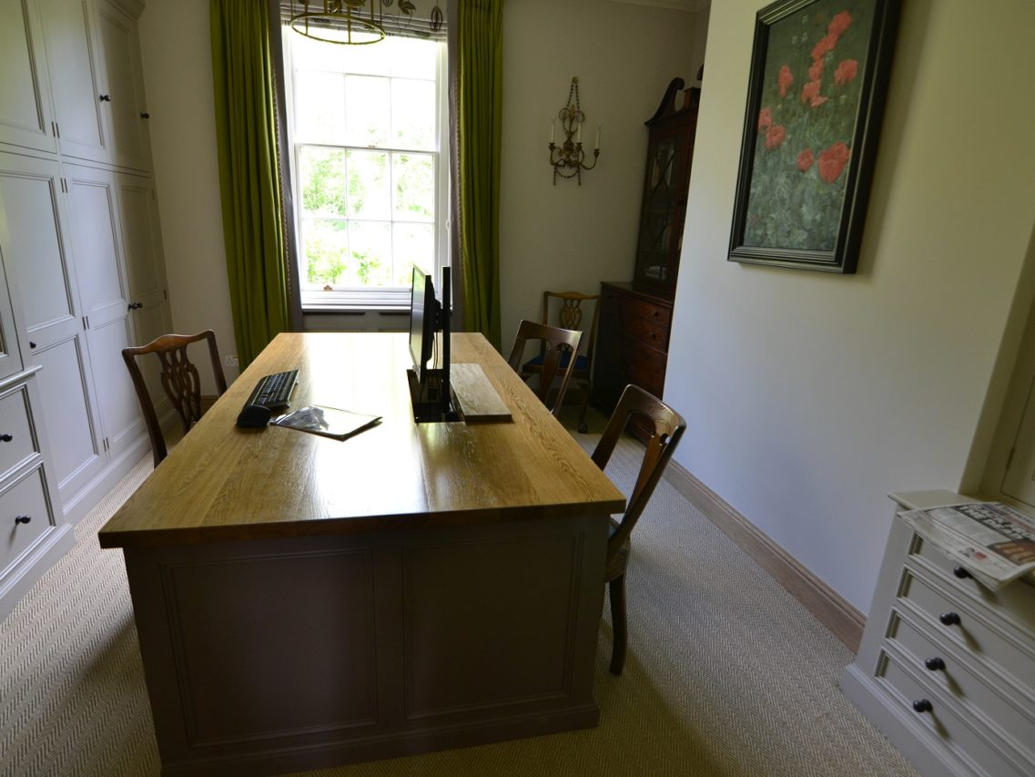 Bespoke fitted office study